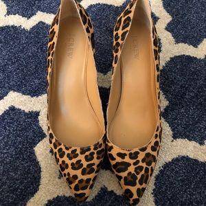 J. Crew Cheetah Kitten Heel